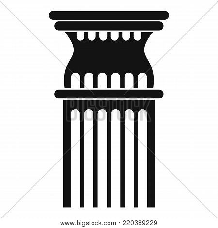 Column icon. Simple illustration of column vector icon for web.