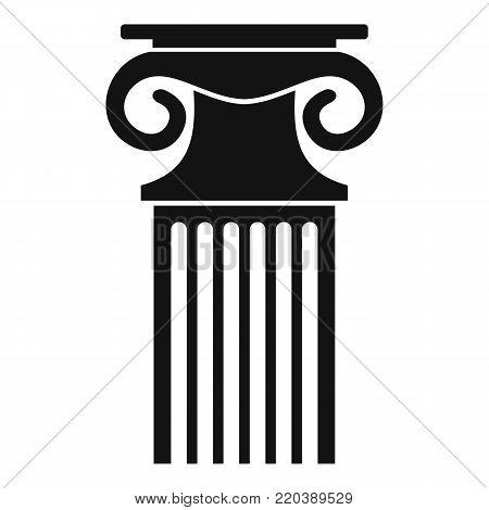 Decorative column icon. Simple illustration of decorative column vector icon for web.