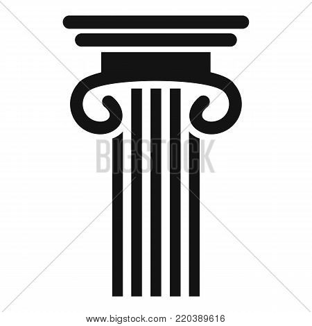Double columned column icon. Simple illustration of double columned column vector icon for web.