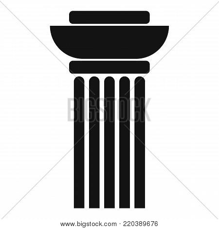 Continuous column icon. Simple illustration of continuous column vector icon for web.