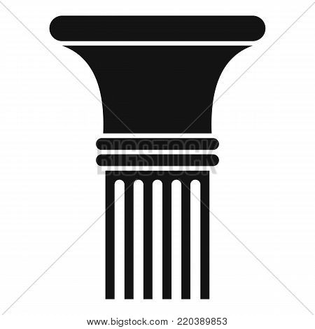 Fluted column icon. Simple illustration of fluted column vector icon for web.