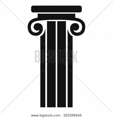 French column icon. Simple illustration of french column vector icon for web.