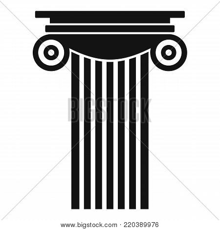 Reinforced concrete column icon. Simple illustration of reinforced concrete column vector icon for web.