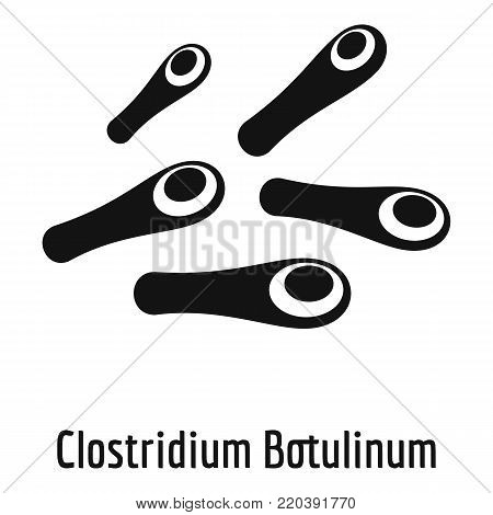 Clostridium botulinum icon. Simple illustration of clostridium botulinum vector icon for web.