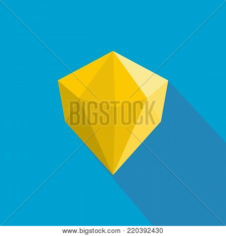 Multifaceted adamant icon. Flat illustration of multifaceted adamant vector icon for web.