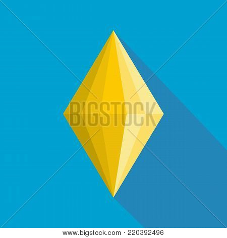 Faceted gem icon. Flat illustration of faceted gem vector icon for web.