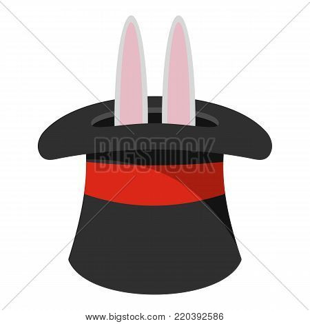 Hat with a rabbit ear icon. Cartoon illustration of hat with a rabbit ear vector icon for web.