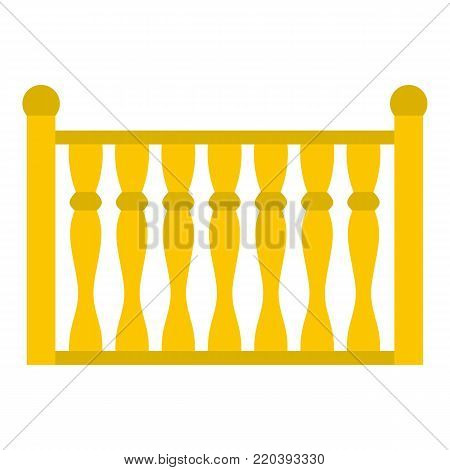 Fence with column icon. Flat illustration of fence with column vector icon for web.