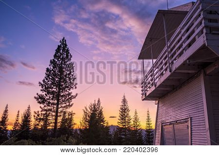 Fire lookout at twilight - HDR - High resolution