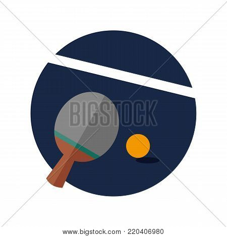 Ping Pong Table Tennis Emblem Sport Vector Illustration Graphic Design