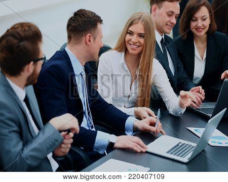 business people talking on meeting at office