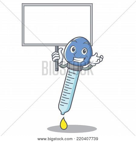 Bring board dropper character cartoon style vector illustration