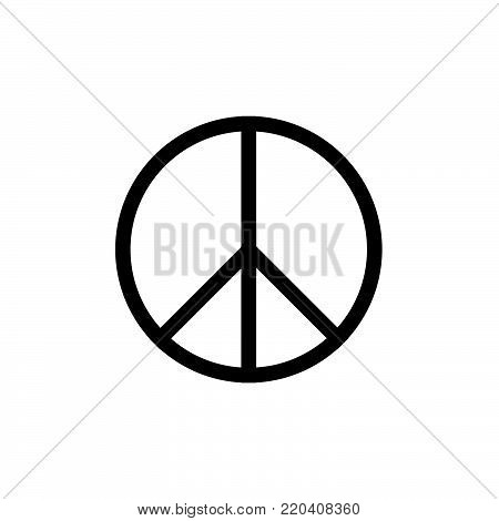 Peace Symbol Vector Icon flat style EPS10