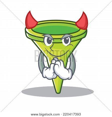Devil funnel character cartoon style vector illustration