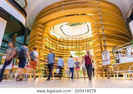 Editorial: Bangkok City, Thailand, 8th May 2017. Gaysorn Village in Cocoon zone. Gaysorn Village (a.k.a. Gaysorn Plaza), Bangkok's first luxury shopping centre with a long history of groundbreaking firsts housing the world's finest fashion.