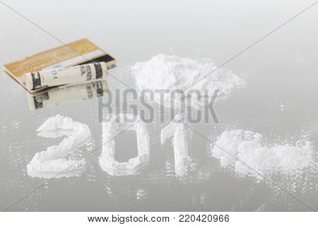 Conceptual Photo Of The Powder Like A Drug