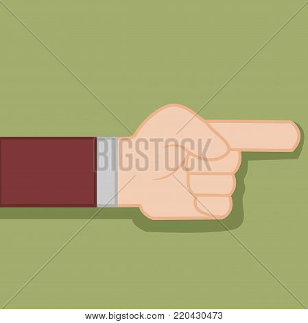 Finger Direction Hand Gesture Vector Illustration Graphic Design