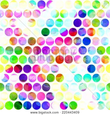 An artistic digitally painted polka dot background pattern.