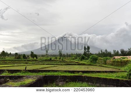 Mayon Volcano is an active stratovolcano in Albay, Philippines