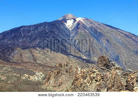 Pico de Teide, Tenerife, Canary Islands, Spain is a volcano in El Teide National Park and is a World Heritage Site