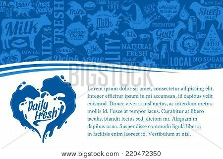 Vector Dairy Products Illustration