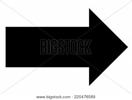 arrow icon on white background. arrow sign. black arrow symbol. flat style.