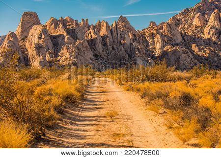 Mojave Desert Rock Formation. Scenic Desert Landscape in Southern California, United States of America.