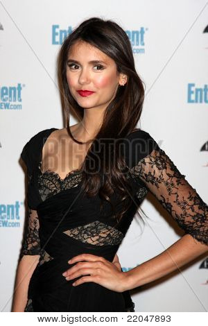 LOS ANGELES - JUL 23:  Nina Dobrev arriving at the EW Comic-con Party 2011 at EW Comic-con Party 2011 on July 23, 2011 in Los Angeles, CA