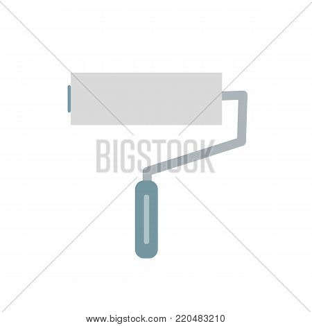 Paint roller isolated on background. Paint roller icoon. Vector stock.