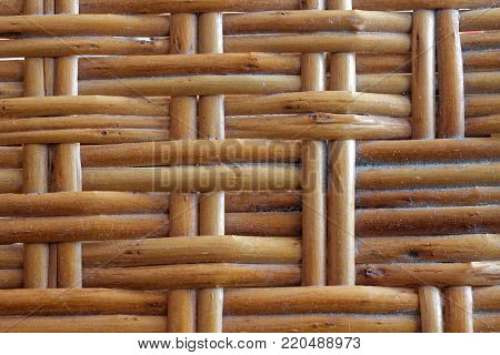 Wooden wicker texture of basketwork for background use