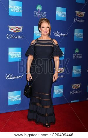 PALM SPRINGS - JAN 2:  Mary Hart at the 2018 Palm Springs International Film Festival Gala at Convention Center on January 2, 2018 in Palm Springs, CA