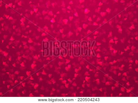 Heart background. Style romantic shine love pattern. Passion pink maroon red backdrop. Valentine day, wedding, marriage concept. Vector illustration