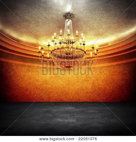 empty space with chandelier