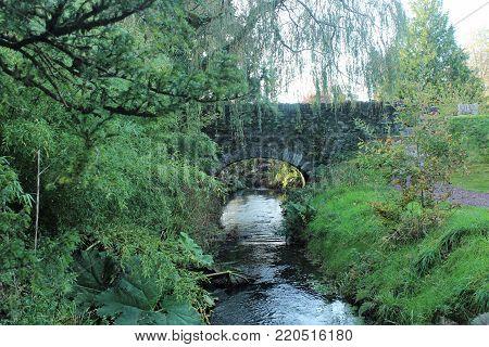 Bridge in the Park Blarney Castle in Cork