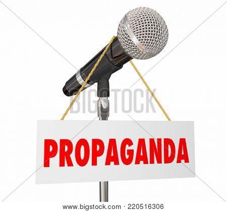 Propaganda Microphone False Information 3d Illustration