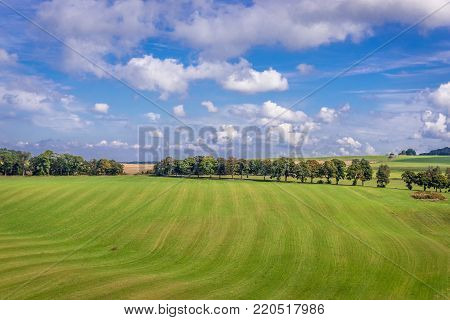 Landscape near Hermanice village in Czech Republic, view from lookout tower