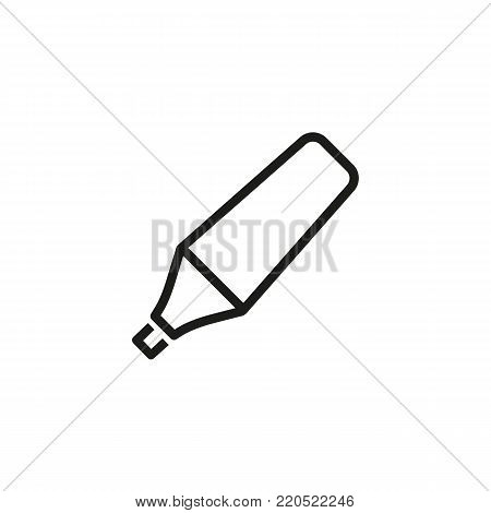 Icon of marker pen. Fineliner, felt-tip marker, highlighting. Writing instrument concept. Can be used for topics like note, design, art, drawing