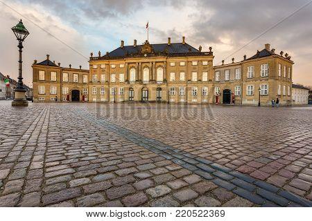 Frederick Viii's Palace In Amalienborg , Copenhagen.