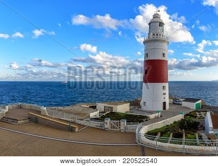 Beautiful Lighthouse at Europa point in Gibraltar