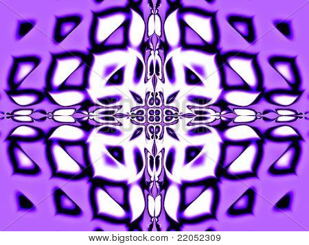 Abstract violet design - fractal