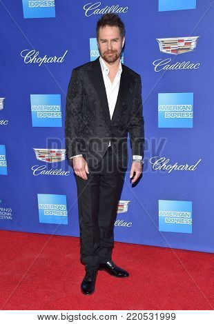 LOS ANGELES - JAN 02:  Sam Rockwell arrives for the 2018 Palm Springs International Film Festival Awards Gala on January 2, 2018 in Palm Springs, CA