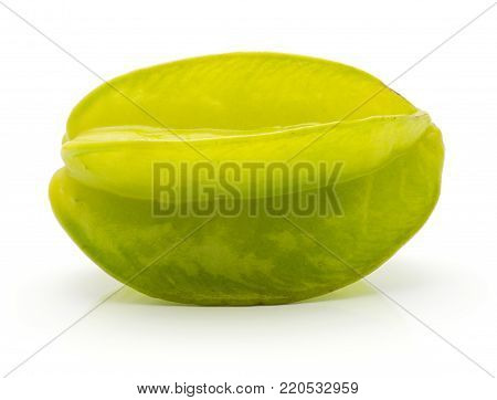 Fresh raw carambola isolated on white background
