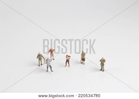 The Mini Back Packer And Tourist People