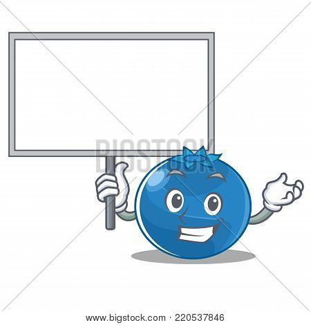 Bring board blueberry character cartoon style vector illustration