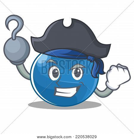 Pirate blueberry character cartoon style vector illustration