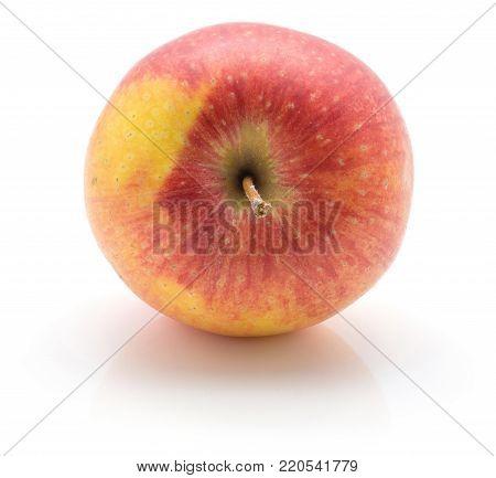 One apple (Evelina variety) isolated on white background