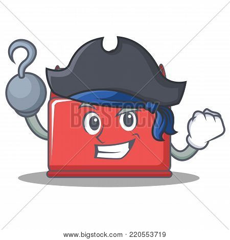 Pirate tool box character cartoon vector illustration