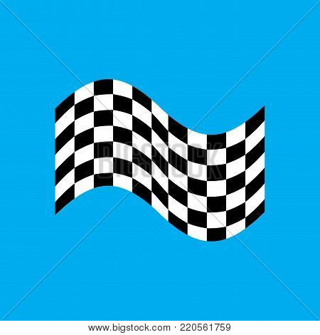 Racing flag isolated. Finish banner. Vector illustration
