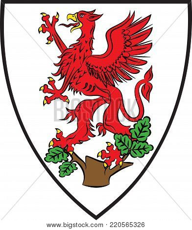 Coat of arms of Greifswald is a city in northeastern Germany. Vector illustration