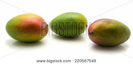 Fresh Three mango isolated on white background